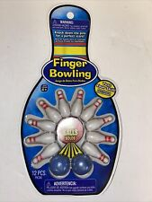 Finger Bowling Ten Pin Table Top Travel Game NEW
