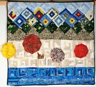 ONE OF KIND ARTISAN TITLED AND SIGNED WALL HANGING QUILTED TYPE SEWING