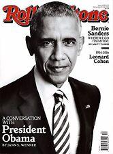 NEW Rolling Stone Magazine Barack Obama December 2016 Newsstand Edition No Label