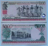 RUANDA RWANDA 5000 francos, emisión 01-12-1998 P-28a. Plancha UNC.