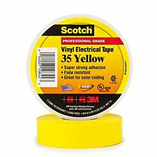 Scotch 35 Yellow Vinyl Color Coding Electrical Tape Professional Grade 5 Rolls