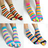 Women's 5 Finger Toe Socks Ladies' Cotton Multi-coloured Striped Five Toesocks