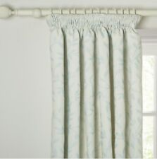 John Lewis Leaf Trail Lined Pencil Pleat Curtains W182 x D182cm in Duck Egg