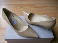 $595 Jimmy Choo Aza Shoes Nude Patent Pointy Toe Pumps 39.5 US 9 NIB