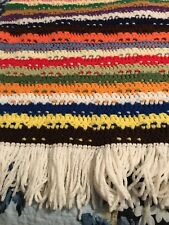 Afghan Vintage Granny Throw  Rainbow ColoredHandmade Couch Bed Blanket