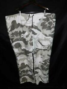 Cabela's XL Gray White Winter Snow Camo Fleece Pants Hunting Camoflage XL Reg