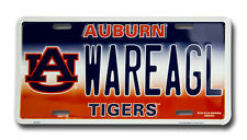 AUBURN TIGERS CAR TRUCK TAG LICENSE PLATE WAR EAGLE FOOTBALL SIGN UNIVERSITY