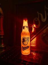 Mlb Baltimore Orioles Bottle Light Baseball 12 oz Beer Led Neon Bar Mens