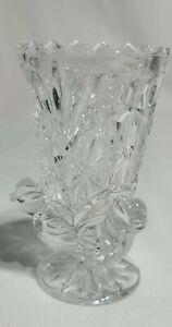 "Vintage Hofbauer Byrdes Footed Crystal Mini Vase/Toothpick Holder 3"" x 1.5"""