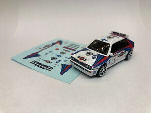 DECALS for Hot Wheels Lancia Delta Integrale - Juha Kankkunen RAC Rally 1992