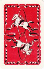 #71 1 vintage single playing swap card - Circus horse  - JS