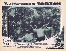 NEW ADVENTURES OF TARZAN 1935 Herman Brix Chapter 12 VINTAGE SERIAL Lobby Card 2