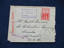 1940s WWII Australia Cover to US Twice Censored & Postage Due