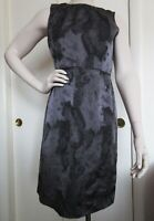 Ann Taylor LOFT Black Charcoal Gray Sleeveless Dress Size 4