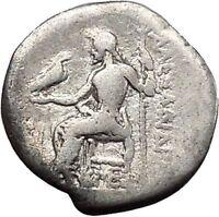 ALEXANDER III the Great 325BC Ancient Silver Greek Coin ZEUS Hercules i45592