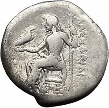 ALEXANDER III the Great 325BC Ancient Silver Greek Coin ZEUS Hercules i45592