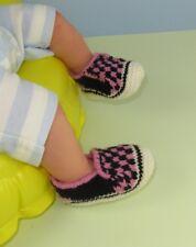 Knitting instructions-baby cuadros Deck Zapatos Zapatillas Botines Tejer patrón