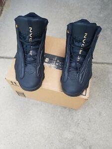 Jordan Pro Strong Mens Basketball Shoes Black MET Gold 407285-010 Size 10 VGUC!