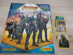 Marvel Avengers Infinity War Sticker Album Panini with 10 stickers