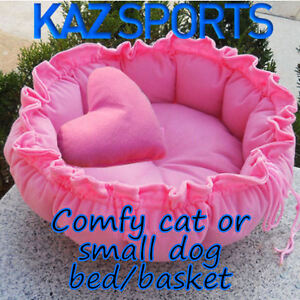 COMFY CAT /SMALL DOG BED THAT TRANSFORMS INTO A BASKET!