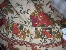 PAIR OF JCPENNEY ADELLE CAPE COD TIER - 84 X 24 - RUSTIC FLORAL