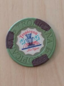 Tropicana $25 fountain Casino Chip