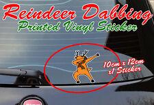 Reindeer dabbing sticker peeping funny cute decoration christmas rudolph car van