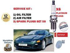 PARA MITSUBISHI 3000 GT & GTO 3.0 92-99 ACEITE JUEGO DE FILTRO AIRE & 6 BUJÍAS