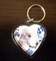 Bedlington Terrier Keyring Dog Key Ring male heart Birthday Gift