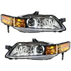 Headlight Set For 2007-2008 Acura TL Base Model Left and Right 2Pc