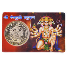 Panchmukhi Hanuman Yantra Hanuman YantraWITH  Gold Plated Coin Energized