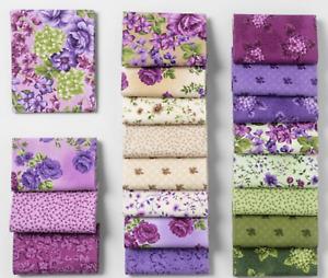 "Boundless Violette Collection Cotton Fabric Layer Cake 10"" Squares Purple Violet"