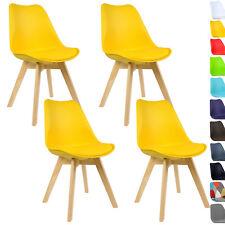 4er Set Esszimmerstühle Design Esszimmerstuhl Küchenstuhl Holz Gelb BH29gb-4