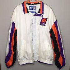 VTG 90s Starter Phoenix Suns Spellout NBA Logo Full Zip Windbreaker Jacket XL