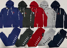 AIR JORDAN ZIP UP HOODIE AND JOGGERS SWEATSUIT SET FAST FREE SHIPPING TRACK SUIT
