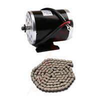 Unite MY1020 Brush DC 24v 500w Electric Motor w/ 25H Chain for Scooter e Bike