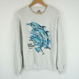 Vintage 90's Dolphin Print Wildlife Sweatshirt SZ Medium (E9667)