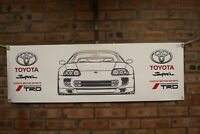 toyota supra mk4 A80 trd retro large pvc  WORK SHOP BANNER garage