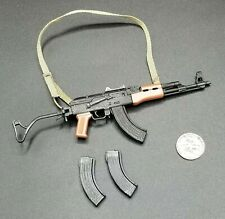 """1:6 Hot Toys DEVGRU AK 47 Rifle w/ Folding Stock 12"""" GI Joe BBI Dragon SEAL PMC"""