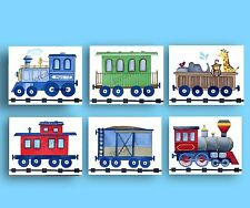 train nursery art prints for boys vintage train bedding wall art decor pictures