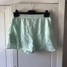 BCBG New Mint Lace Shorts XS