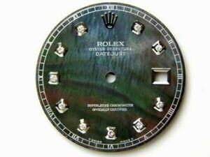 Rolex Men's Datejust II 41mm Black MOP Diamond Dial 116300, 116334, SS