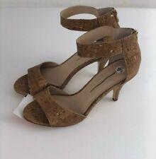 6be516bdd Boston Proper Women s Cork Ankle Strap Heels Dress Sandals Size 9.5 Open  Toe (B)