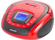 Majestic Ah240 Rosso Stereo Lettore USB AUX SD Mp3 Radio portatile con Allarme