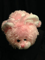 Bunny Rabbit Puppet Pink Stuffed Plush Squishy Toy Easter Baby