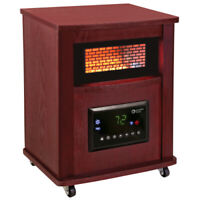 Comfort Zone CZ2032C Infrared Quartz Cabinet Heater with Remote Control and