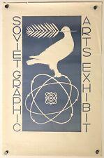 Original Vintage Poster SOVIET GRAPHIC ARTS EXHIBIT Mid Century MCM Exhibition