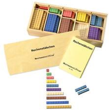 Rechenstäbchen in Montessori-Farben, 200 St., Montessori Material zur Freiarbeit