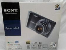 Sony Cyber-shot DSC-W370 14.1MP Digital Camera - Green Very Good Condition