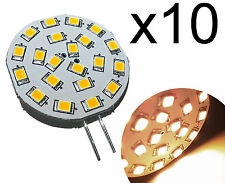 10 PCS, G4 21 LED Bulb 270 Lumen Warm White 3 Watt 10-30V DC Lamp for Marine, RV